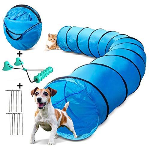 NXL Hundetunnel 60Cm X 500Cm, Spielzeug Tunnel Für Hunde Und Katze Mit Hundetraining, Um Den Ball Zu...
