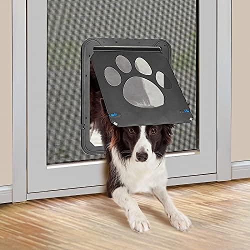 PET LESO Hundeklappe für Fliegengittertür Hundetür Fliegengitter Freiheit für Haustiere ein- oder...