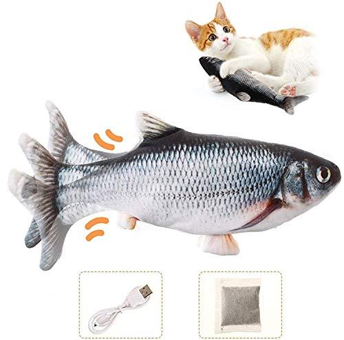 Charminer Katzenspielzeug Elektrische Fische, Katze Interaktive Spielzeug USB Elektrische Plüsch Fisch...