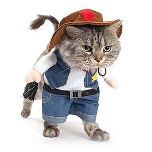 Newin Star Haustier Hund Katze Halloween Kostüme, der Cowboy für Party Weihnachten Special Events...