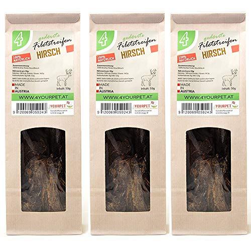 4yourpet Dörrfleisch für Katzen und Hunde, Trockenfleisch in hauchdünnen Streifen, 100% natürlich...