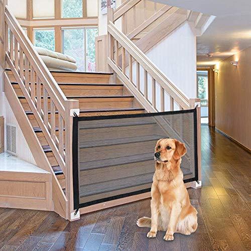 Qsnn Hundebarrieren & Babyschutz Zaun, 110cm x 72cm Magic Gate Faltbar Zaunsysteme Hund Türschutzgitter...