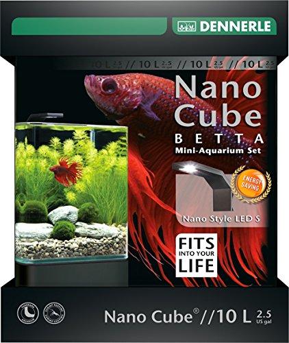 Dennerle Nano Cube Betta - 10 Liter Mini Aquarium mit LED Beleuchtung