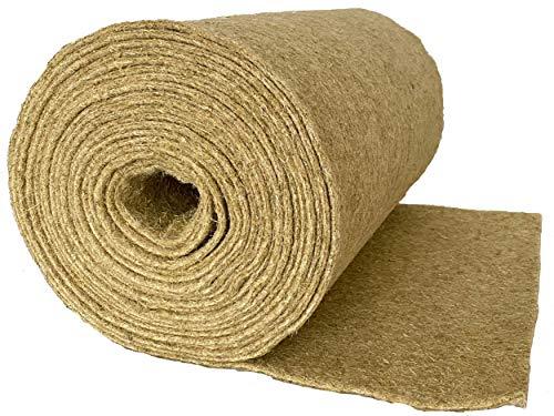 Nager-Teppich aus 100 % Hanf, Meterware, 0,60 m x 25,00 m x 0,5 cm dick (EUR 4,76/m²), Nagermatte...