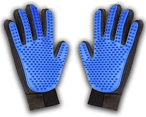 KAIHONG 2PCS Pet Bürste Handschuh, Haustier Grooming Bürsten Deshedding Glove Cat Haar-Remover-Bürsten...