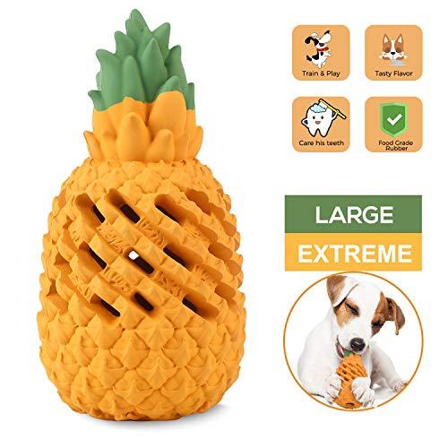 Wenxuan Kauspielzeug für Hunde, Ananas, für aggressive Kauer, unzerstörbar, interaktives...