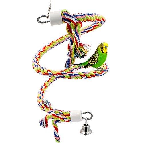 Rusee Vögel Spielzeug, Parrot Climbing Rope Sling, Schaukel Spielzeug, Spirale Stehen-Seil, Mittlere...