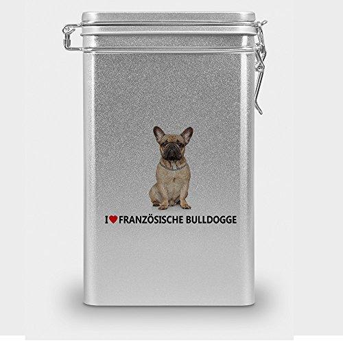 Hundefutterdose 'Französische Bulldogge', Vorratsdose,Leckerliedose, Blech-Dose, Hundenapf mit Motiv...