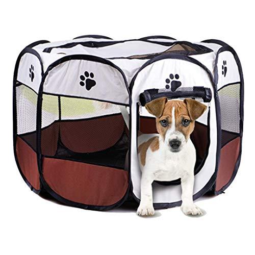 Authda Welpenlaufstall für Hunde Wohnung,Faltbar,Welpenfreilaufgehege aus Strapazierfähigem Polyester...