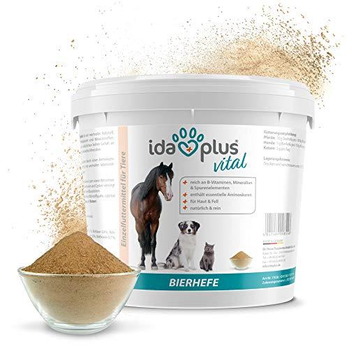 Ida Plus - Reines Bierhefe-Pulver - 3 kg - 100% Naturprodukt für Hunde, Katzen & Pferde -...
