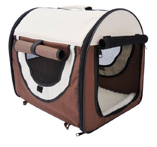 PawHut Hundebox faltbare Hundetransportbox Transportbox für Tier 2 Farben 5 Größen 61x46x51 cm,...