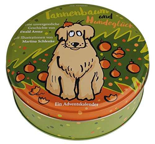 Adventskalender Tannenbaum und Hundeglück - Adventskalender mit Hundegeschichte - 24 Karten in Blechdose...
