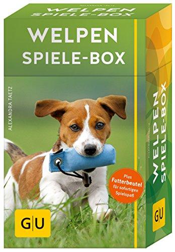 Welpen Spiele-Box gelb 12 x 3,5 cm: Plus Futterbeutel für sofortigen Spielspaß (GU Tier-Box)
