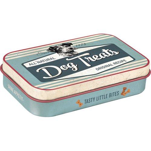 Nostalgic-Art 82201 PfotenSchild - Dog Treats Leckerli-Dose/Box für Unterwegs To Go, mehrfarbig