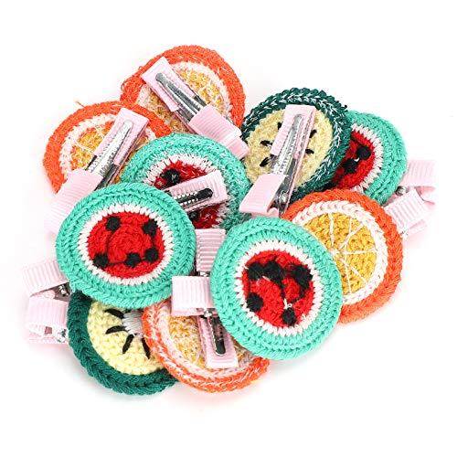 HERCHR 20 Stück Fruchtform Tierhaarschleifen, Hundekatze Kopfbedeckung Pflegezubehör