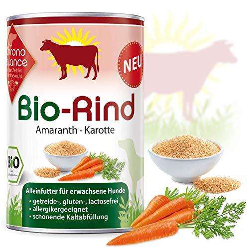 ChronoBalance® Premium Bio-Nassfutter für Hunde, getreidefrei, glutenfrei, lactosefrei, Bio-Rind,...