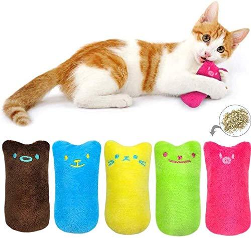 BTkviseQat Spielzeug mit Katzenminze,5 Stück Knuddelkissen Niedlich Plüsch Daumen Geformt...