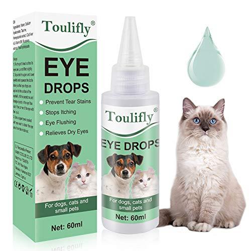 Toulifly Hund Augentropfen, Sanfte Augenpflege für Hunde, Pflegeprodukt für Augen, Besonders Milde &...