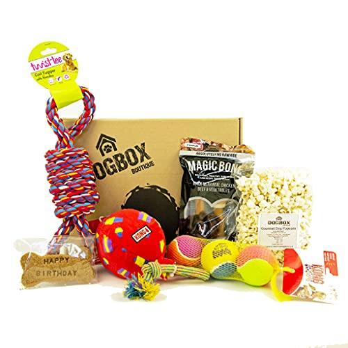 Dogbox Boutique The Birthday Dog Geschenkbox, ideal für den Geburtstag, Weihnachten oder eine monatliche...
