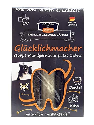 Qchefs Glücklichmacher|Hunde Zahnpflege-Snack|Kauknochen groß|Knochen gegen Mundgeruch &...