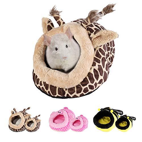 URIJK Kleine Tier Haus Nest Gemütlich Warm Plüsch Baumwolle Schlafen Bett Höhle für Lgel Katze...