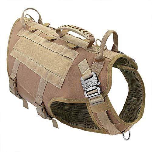 Dpprdl Leichter taktischer Hundegeschirrgriff, Trainingsweste, vordere Klammer, Kabelhaken und...