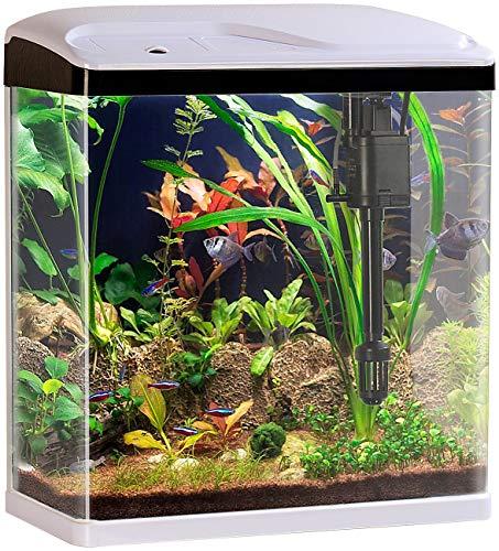 Sweetypet Nano Becken: Nano-Aquarium-Komplett-Set mit LED-Beleuchtung, Pumpe und Filter, 25 l (Mini...