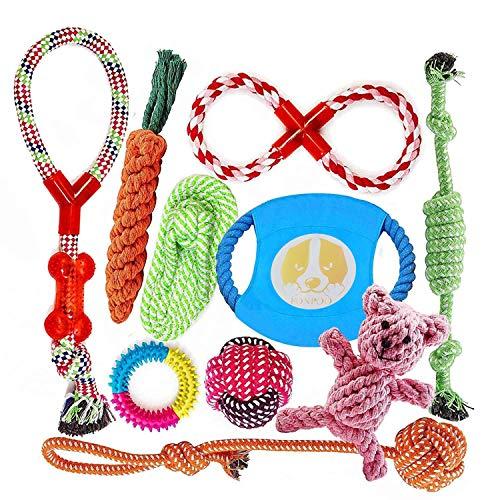 FONPOO Hundespielzeug, Hergestellt aus Natürlicher Baumwolle ungiftig und geruchlos Robust Besser für...
