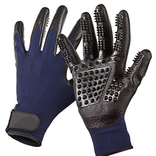 Nifogo Fellpflege Handschuhe-Links & rechts-Verbesserte Fünf Finger Design-für Katzen,...