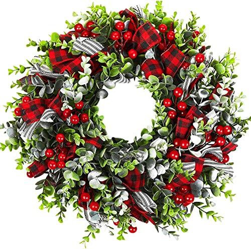 Weihnachtskranz,Weihnachtsmann Türkranz Adventskranz Schneemann Weihnachten Kranz Dekokranz Hängende...