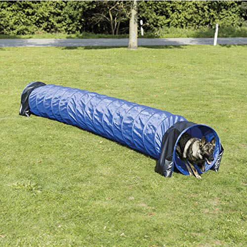Trixie 3211 Dog Activity Agility Basic Tunnel, ø 60 cm/5 m, blau