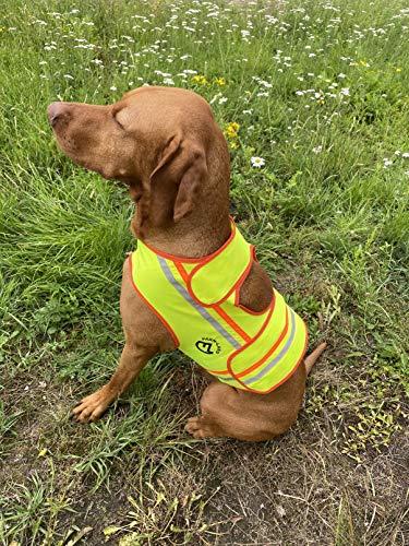 FARM-LAND Hunde Reflektorweste Warnweste Schutzweste Jagd (L)
