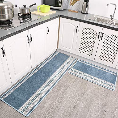 OPLJ Nordic Style Küchenteppich Badezimmerboden Wasseraufnahme Küchenmatten Weiche Schlafzimmerteppiche...
