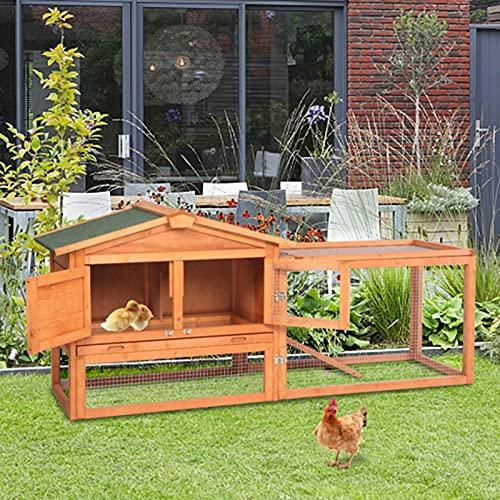 PQH zweistufiger Kaninchenstall aus Holz Kleintierhaus Outdoor Tierstall, Hasenvilla Kleintiergehege...