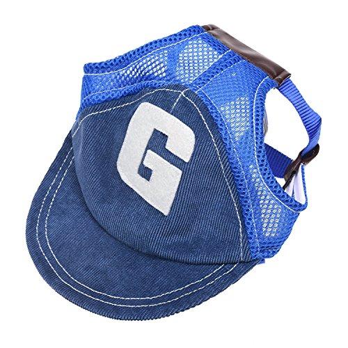 ANIAC Baseballkappe für Hunde, verstellbar, für den Außenbereich, M, blau