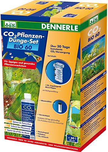 Dennerle 3008 Bio 60 Komplett-Set | Bio-C02 Düngeanlage für Aquarien bis 60 Liter | mit Blasenzähler...