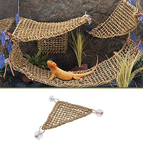 Lizard Lounger Corner Hängematte für Reptilien Reptilien Strohmatte mit Saugnapf