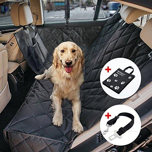 Wimypet Wasserdichte Hunde Autoschondecke mit Seitenschutz Reißverschlüsse Taschen, Universalgröße...