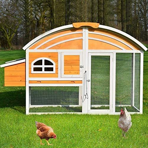zooprinz Moderne Hühnervoliere mit Nistkasten – aus massivem Voll-Holz und stabilem Draht –...