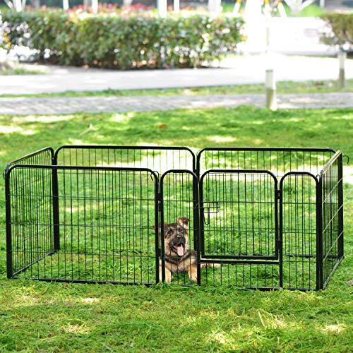 Sapphome 6 Paneele Laufstall geeignet für Kaninchen/Meerschweinchen/Hunde und Katzen Haustier...