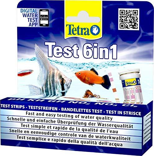 Tetra Test 6in1 - Wassertest für das Aquarium, schnelle und einfache Überprüfung der Wasserqualität,...