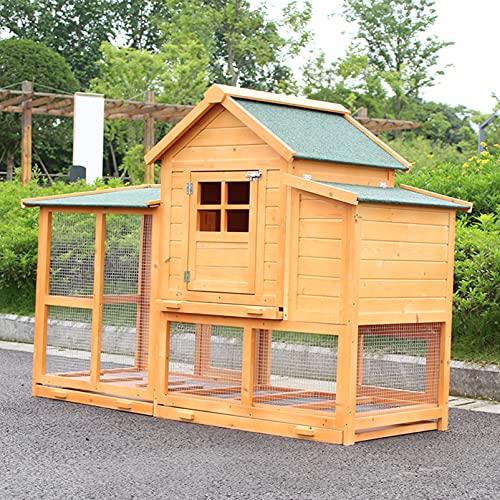 Outdoor-Holz-Hühnerhaus Garten großer Kaninchenkäfig, wetterfester Hinterhof-Geflügelkäfig mit...