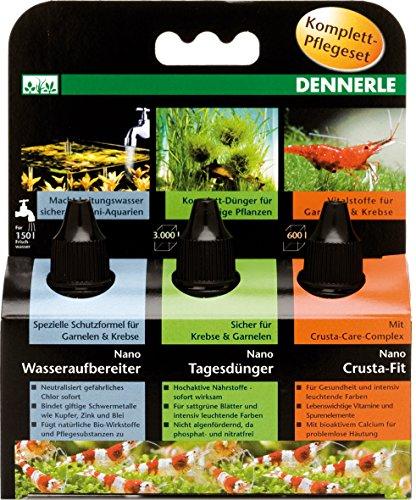 Dennerle Nano Wasserpflege | Tagesdünger, Wasseraufbereiter und Vitalstoffe (3in1 Pflegeset, 1 Stück)