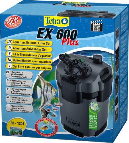 Tetra Aquarien Außenfilter EX 600 Plus (leistungstarker Filter für Aquarien von 60-120 L, Komplettset...