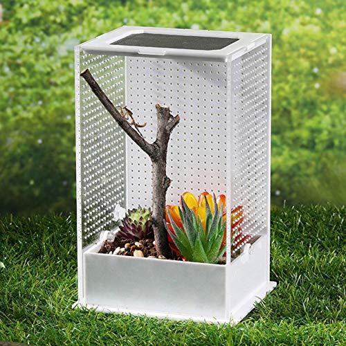 Luckyx Transparente Reptilienzuchtbox aus Acryl für Reptilien, Zuchttanks Terrarium, Sichtfenster, mit...