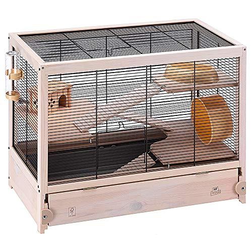 Ferplast FSC Holzkäfig für Hamster HAMSTERVILLE für Mäuse und kleine Nagetiere, Multi-Level-Struktur,...
