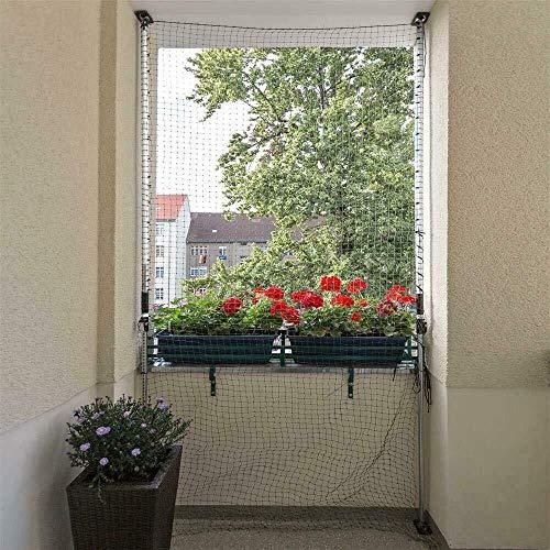 ALLEGRA Balkon Katzennetz Netz Schutznetz Katzengitter Transparent 4x3m Katzenschutznetz Fensterschutz...