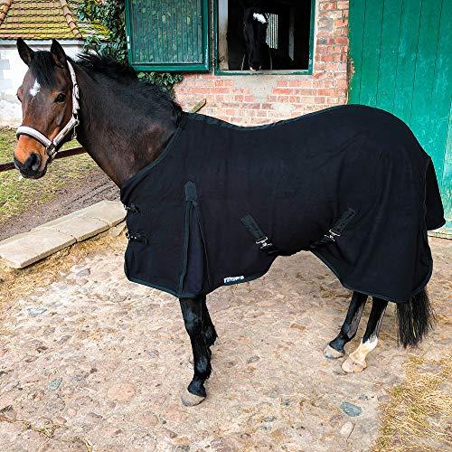 Abschwitzdecke mit Kreuzgurt für Pferde, Ponys – Atmungsaktive Pferdedecke aus Fleece – für...
