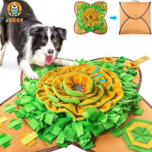 AWOOF 【Aktualisierte Schnüffelteppich Hund groß Intelligenzspielzeug für Hunde Schnüffelspielzeug...