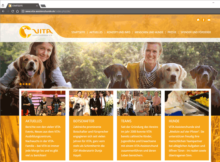 Ausbildung zu zertifizierten VITA Assistenzhunden VITA e.V von www.vita-assistenzhunde.de